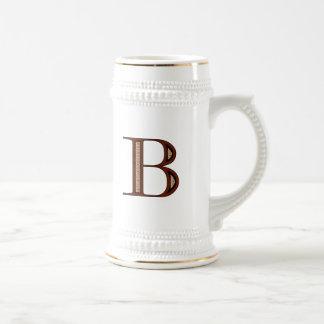 Damask Letter B - Red Mug