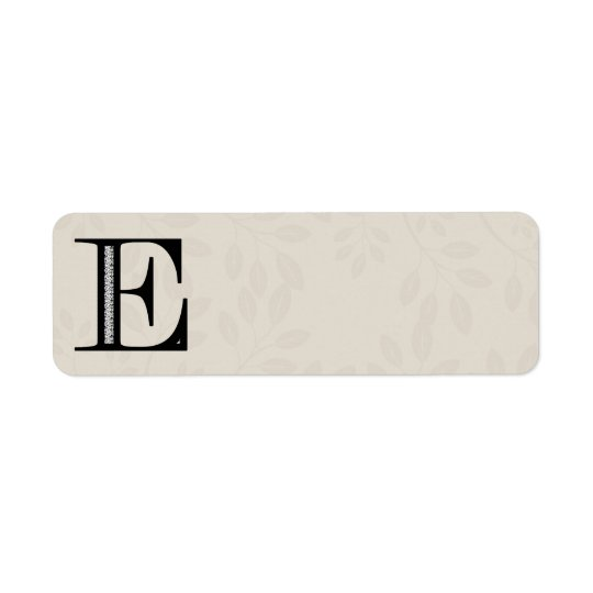 Damask Letter E - Black Label