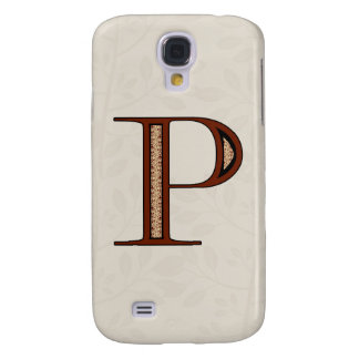 Damask Letter P - Red Galaxy S4 Cover