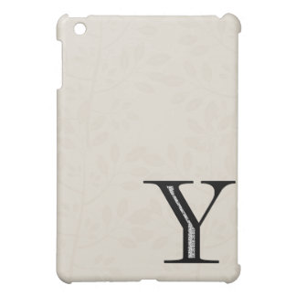 Damask Letter Y - Black Case For The iPad Mini