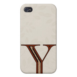 Damask Letter Y - Red Case For iPhone 4