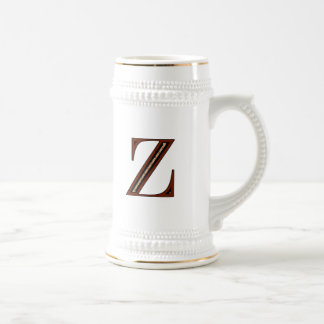 Damask Letter Z - Red Coffee Mugs