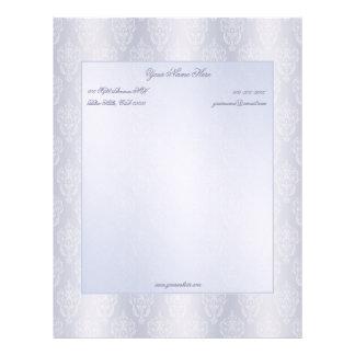 Damask Light Blue Letterhead