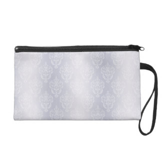 Damask Light Blue Wristlet