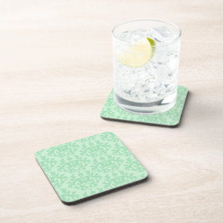 Damask light green Kangaroo Paws set of 6 coasters