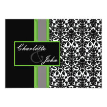 damask lime  Save the date Card