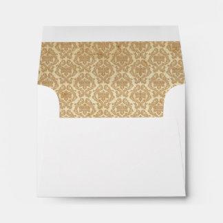 Damask Liner - Light Brown Envelope