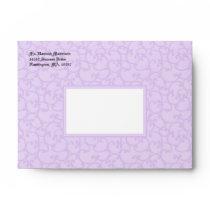 Damask Lite Purple A6 Envelopes
