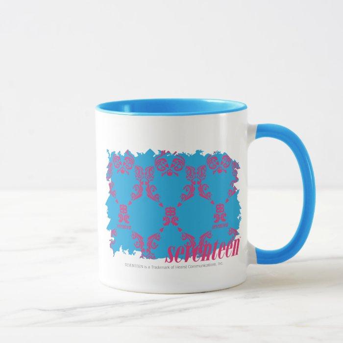 Damask Magenta-Aqua 4 Mug