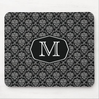 Damask Marquee Monogram Mouse Pad