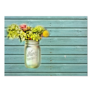 damask mason jar floral vintage birthday party card