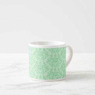 Damask mint green espresso mug