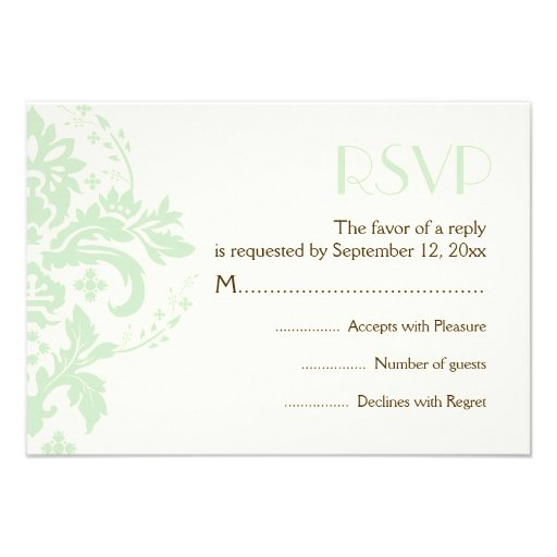 wedding reply response card a modern yet classic wedding design with a