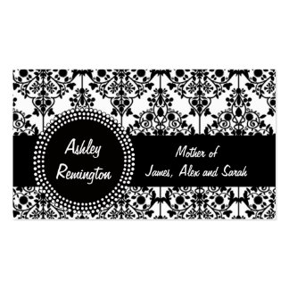 Damask Mommy Calling Cards Business Cards
