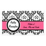 Damask Mommy Calling Cards Pink Business Card Templates