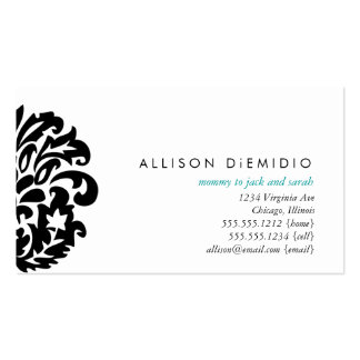 damask mommy cards business card