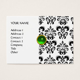 DAMASK MON RUBY bright green grey gold Business Card