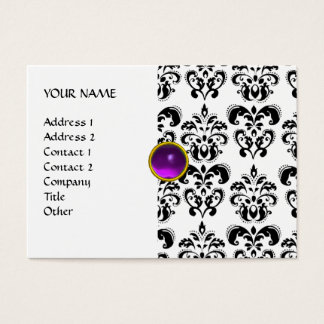 DAMASK MON RUBY bright purple grey gold Business Card