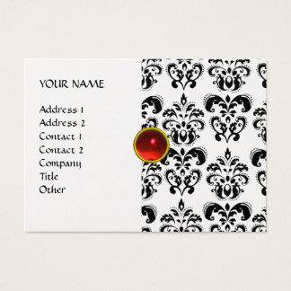 DAMASK MON RUBY bright red violet grey gold platin Business Card