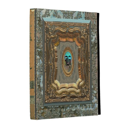 Damask Monica Old Style Book iPad Folio Cover