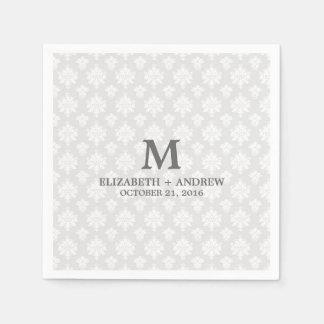 DAMASK | MONOGRAM PAPER NAPKINS