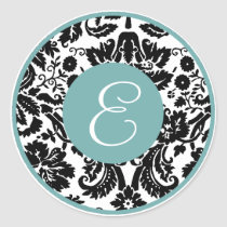 damask Monogram stickers
