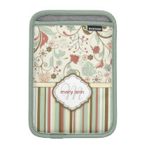 Damask Monogram Vintage Girly Floral Sleeve For iPad Mini
