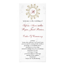 Damask MONOGRAM Wedding program