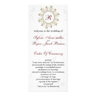 Damask MONOGRAM Wedding program