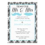 Damask Mr. and Mrs. Shower Invitation (1)
