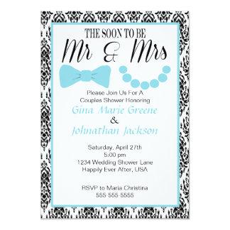 Damask Mr. and Mrs. Shower Invitation (2)