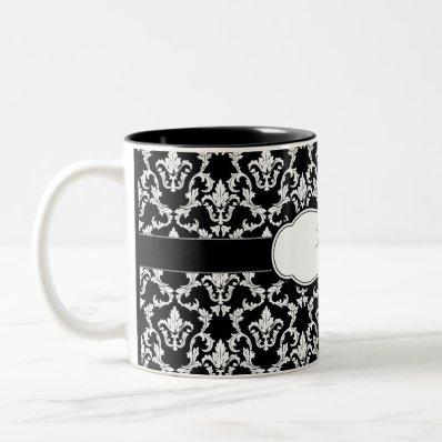Damask Mug Add Your Name