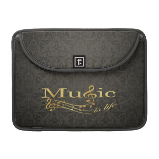 Damask Music is Life Sleeves For MacBooks