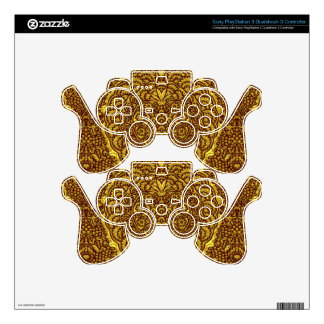 Damask of Queen Margaret I of Denmark's dress Decal For PS3 Controller