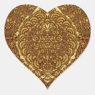 Damask of Queen Margaret I of Denmark's dress Heart Sticker