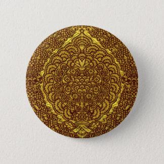 Damask of Queen Margaret I of Denmark's dress Pinback Button