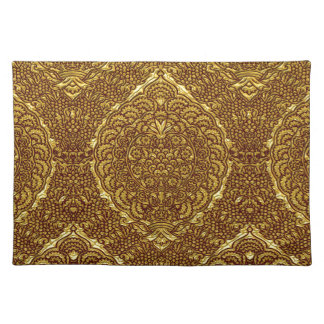 Damask of Queen Margaret I of Denmark's dress Placemats