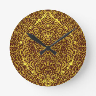 Damask of Queen Margaret I of Denmark's dress Round Clock