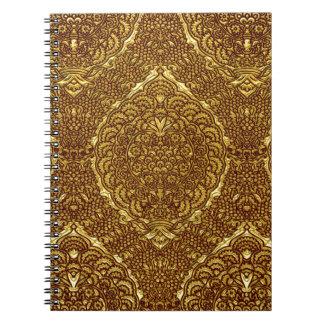 Damask of Queen Margaret I of Denmark's dress Spiral Notebook