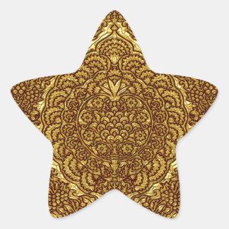 Damask of Queen Margaret I of Denmark's dress Star Sticker