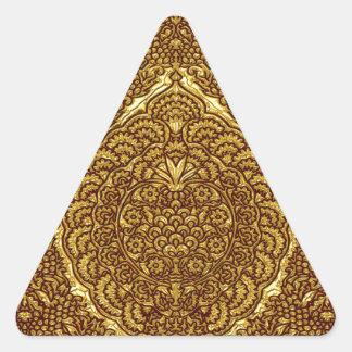 Damask of Queen Margaret I of Denmark's dress Triangle Sticker