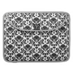 damask on changeable background color sleeves for MacBook pro