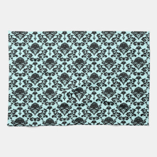 damask on changeable background color towel