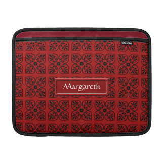 Damask on dark red sleeve for MacBook air
