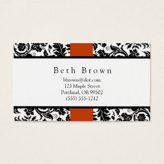 Damask & Orange business card