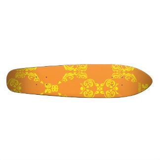 Damask Orange-Yellow Custom Skateboard