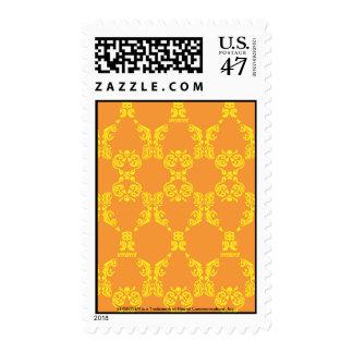 Damask Orange-Yellow Stamp