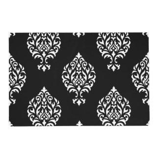 black and white damask placemats zazzle. Black Bedroom Furniture Sets. Home Design Ideas