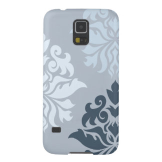 Damask Ornate Montage II Blues A Galaxy S5 Cover