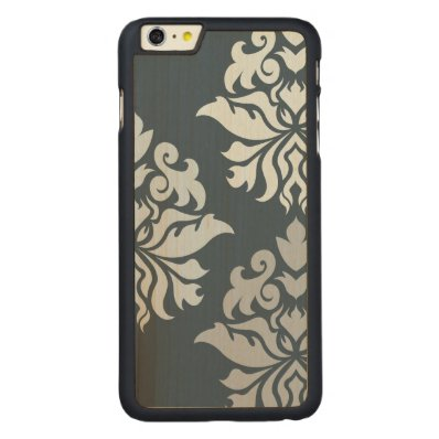 Damask Ornate Montage II Blues B Carved® Maple iPhone 6 Plus Slim Case